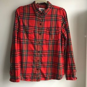 Old Navy Red Plaid Button Up with Mulitcolor Plaid